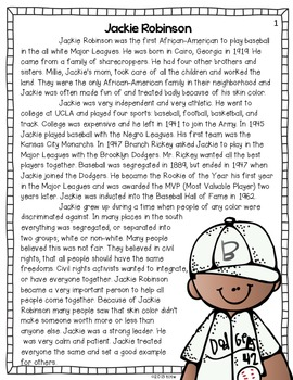 Famous Americans {Jackie Robinson}