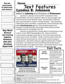 Famous Americans: Lyndon B. Johnson Activities & Interactive Notebook