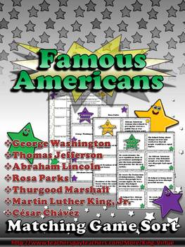 Famous Americans: Martin Luther King, Jr., Rosa Parks, etc