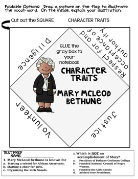 Famous Americans: Mary McLeod Bethune Activities & Interactive Notebook