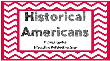 Famous Americans Quotes & Anchor Charts (Paul Revere, Susan B. Anthony & more!)