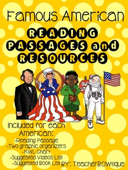 Famous Americans Reading Passages and Resources (A Growing Bundle)