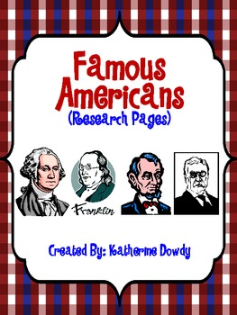 Famous Americans: Research Pages
