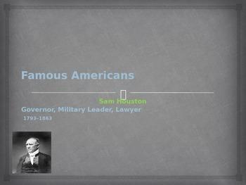 Famous Americans - Sam Houston
