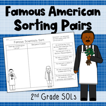 Famous Americans Sorting Pairs {SOL 2.4}