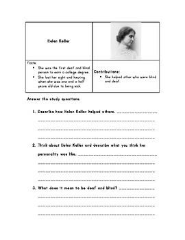Famous Americans Study Guide VA HSS SOL 2.11