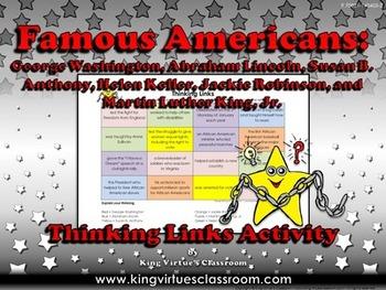 Famous Americans: Susan B. Anthony, Helen Keller Thinking