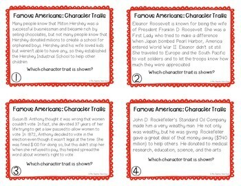 Famous Americans Task Card Bundle for 3rd - 5th Grade
