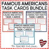 Famous Americans Task Card Bundle   Famous Americans Center Games