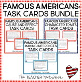 Famous Americans Task Card Bundle | Famous Americans Center Games