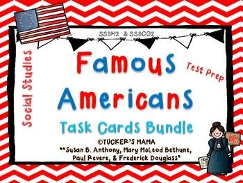 Famous Americans Task Cards Bundle