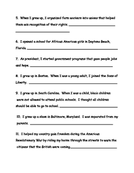 Famous Americans Test, Review, Study Guide 3rd Grade Social Studies