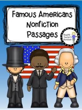 Famous Americans Nonfiction Passages