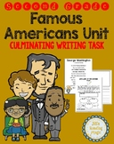 Famous Americans Unit Cumulative Writing Task for Louisian