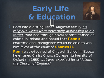 Religion - Key Figures - William Penn