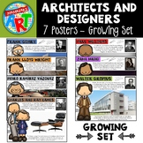 Famous Architects and Designers Poster Set- Growing Set