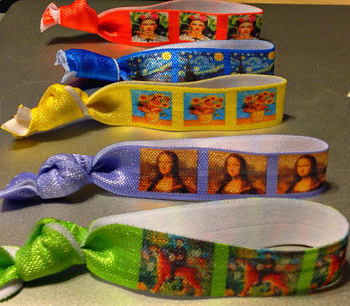 Famous Art Painting Hair Ties - Mona Lisa, Rousseau, Starry Night, more!