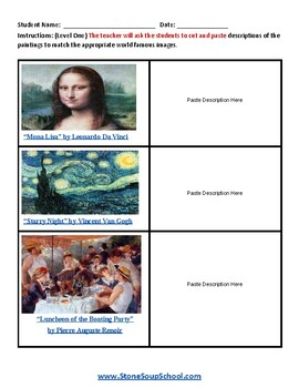 Famous Art Paintings for Students with Autism