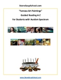 Guided Reading A-Z: Famous Art Paintings for students with Autism