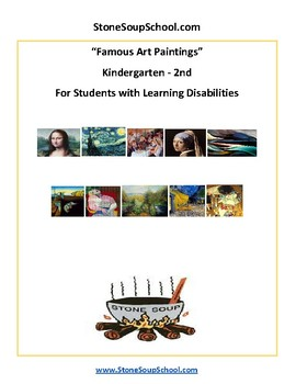 Famous Art Paintings For Students with LD Learning Disabilities