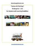 K -2 Famous Art Paintings For Students with Learning Challenges