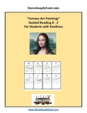Famous Art Paintings for Students w/ Deafness with American Sign Language - ASL