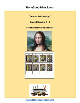 Famous Art Paintings with Braille for VI Visual Impairments - Blindness