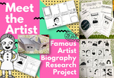 Famous Artist Biography Research Activity ( mini-booklet t