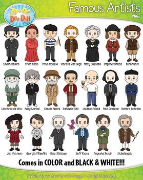 Famous Artist Characters Clip Art Bundle Pack — Includes 2