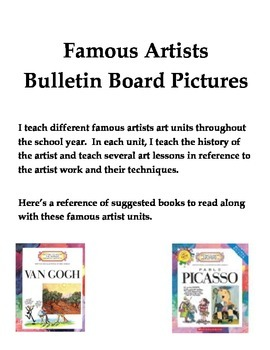 Famous Artist Posters for Bulletin Board - Art History