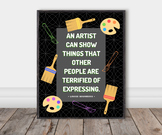 Famous Artist Quote Poster: Louise Bourgeois (Chalkboard)