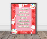 Famous Artist Quote Poster: Louise Bourgeois (Vibrant)