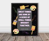 Famous Artist Quote Poster: Vincent Van Gogh (Chalkboard)