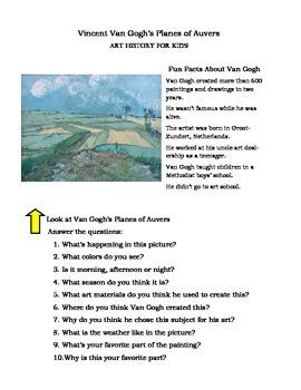 Famous Artist Worksheet- Van Gogh
