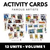Famous Artists Activity Cards - MEGA BUNDLE - 12 Complete