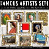 Famous Artists Activity Worksheets Bundle Set 1