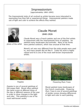 Famous Artists & Artwork - Art Appreciation / Art History Unit Study with Bingo!
