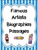 Famous Artists Biography Passages