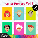 Famous Artists | Classroom Posters | Vol. 1