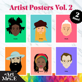 Famous Artists | Classroom Posters | Vol. 2