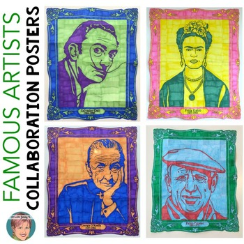 Famous Artists Collaboration Posters BUNDLE