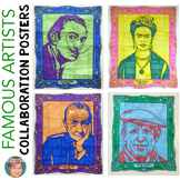 Famous Artists Collaboration Posters BUNDLE : Kahlo, Dali,