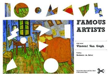Famous Artists Cut & Paste Worksheet - Vincent Van Gogh