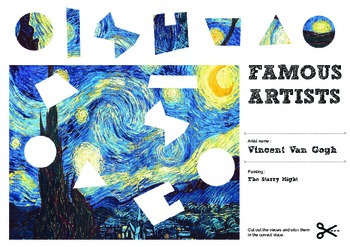 Famous Artists Cut & Paste Worksheet - Vincent Van Gogh - The Starry Night