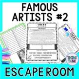 Famous Artists ESCAPE ROOM #2: Michelangelo, Degas, Dali, Warhol - Print & Go!