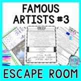 Famous Artists ESCAPE ROOM #3: Monet, Picasso, Manet, Seurat- Print & Go!