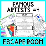 Famous Artists ESCAPE ROOM #4: Raphael, Turner, O'Keeffe, Rembrandt- Print & Go!