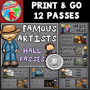 Famous Artists Hall Passes