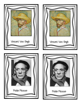 Famous Artists Matching Game