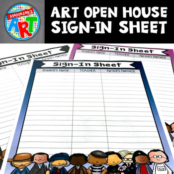 Famous Artists Open House Sign In Sheet
